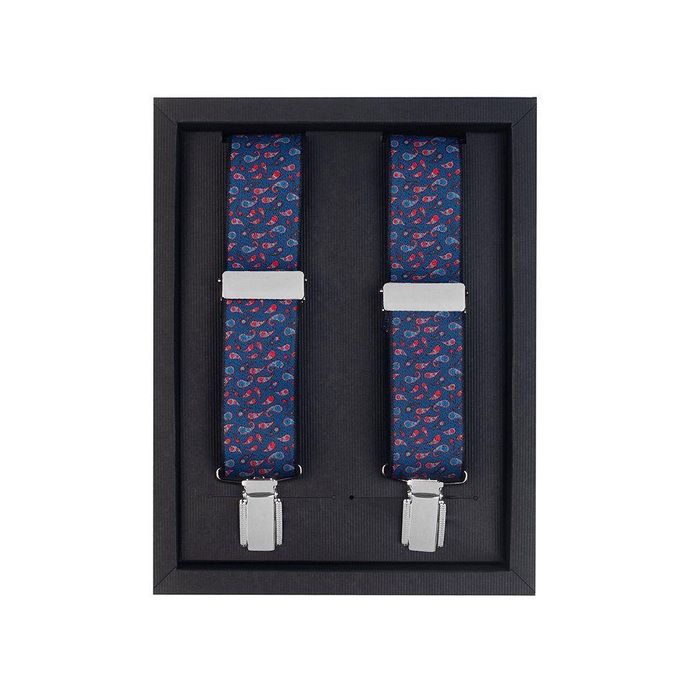 Tirantas elásticas azul medio con micro diseño