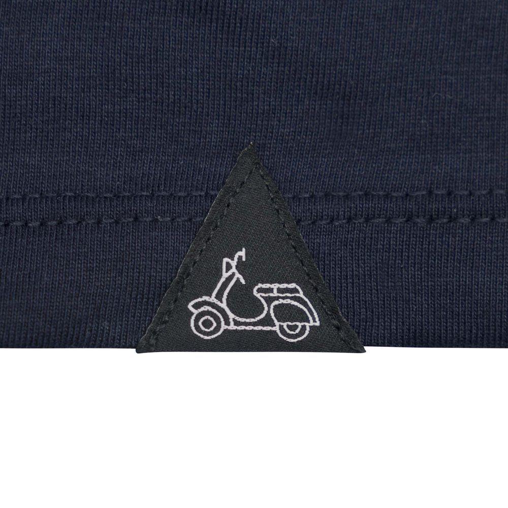 Camiseta azul oscura en 100% algodón, silueta Slim, confortable y de tacto suave