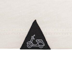 Camiseta blanca en 100% algodón, silueta Slim