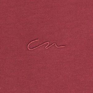Camiseta vino tinto en 100% algodón