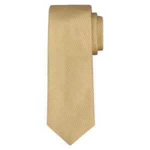 Corbata amarilla con acentos azules oscuros en jacquard