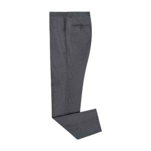 Pantalón gris medio jaspeado silueta regular. Confeccionado en lana 100% Italiana de Reda