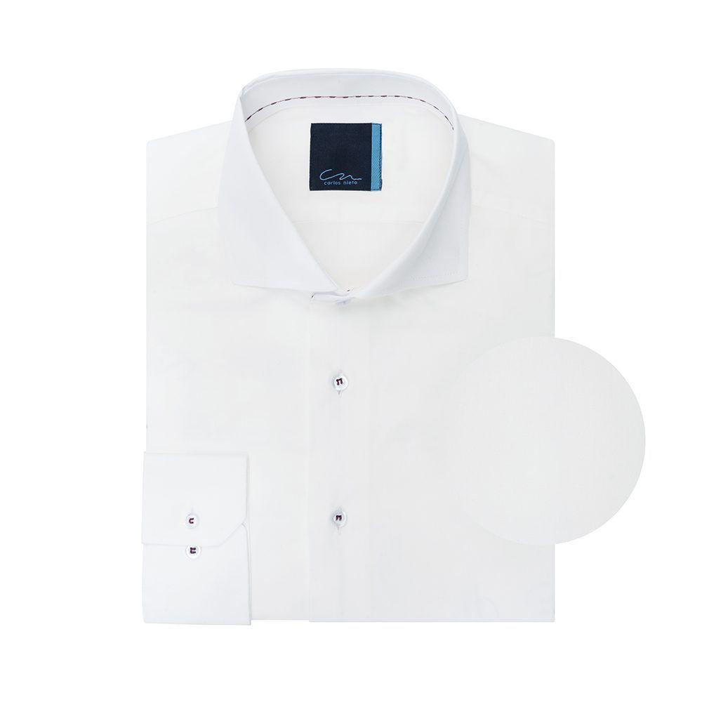 Camisa blanca en 100% algodón de origen Español.