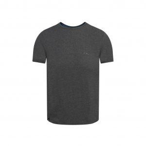 Camiseta gris elaborada en fibra natural 100% Algodón la cual brinda confort y un tacto suave, silueta regular.