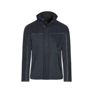 Chaqueta azul medio acolchada, semi-impermeable de origen Español. Fácil de usar y combinar para cualquier look informal.