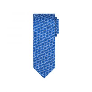 Corbata azul circulos en jacquard seda de origen Francés. Ideal para un look elegante y contemporáneo.