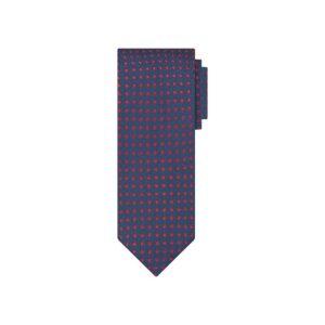 Corbata azul mini cuadros en jacquard seda de origen Francés. Ideal para un look eleg