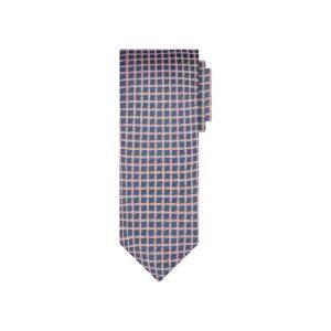 Corbata azul cuadros en jacquard seda de origen Francés.