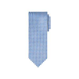 Corbata azul diseño en jacquard seda de origen Francés.
