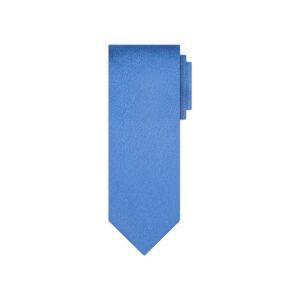 Corbata azul jaspé en jacquard de seda de origen Francés.
