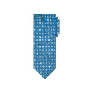 Corbata azul print en jacquard de seda de origen Francés.