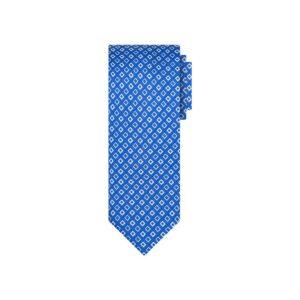 Corbata azul rombos en jacquard seda de origen Francés.