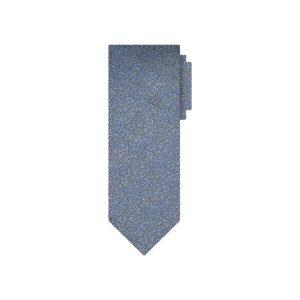 Corbata azul tornasol en jacquard de seda de origen Francés.