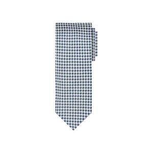 Corbata azul y blanco en jacquard seda de origen Francés.