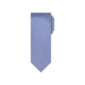 Corbata morada mini cuadros en jacquard seda de origen Francés.