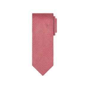 Corbata roja mini cuadros en jacquard seda de origen Francés.
