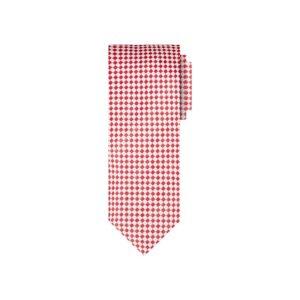 Corbata roja diseño en jacquard seda de origen Francés.