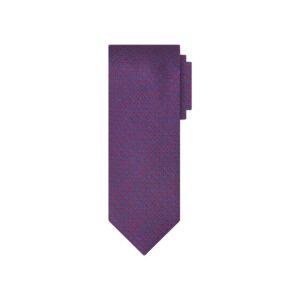 Corbata roja diseño azul en jacquard seda de origen Francés.