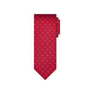 Corbata roja puntos en jacquard seda de origen Francés.