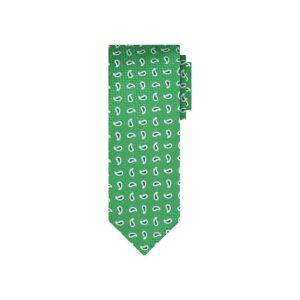 Corbata verde arabescos en jacquard seda de origen Francés.