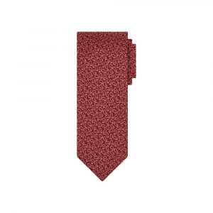 Corbata vinotinto arabescos en jacquard seda de origen Francés.
