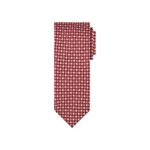 Corbata vinotinto puntos en jacquard seda de origen Francés.