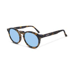 Gafas Italianas con montura redonda en acetato multicolor y lentes espejo con protección total UV400. Categoría 3.