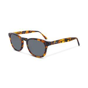 Gafas Italianas con montura semi redonda en acetato multicolor y lentes oscuros con protección total UV400. Categoría 3.