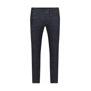 Jean azul oscuro en mezcla algodón elastano.