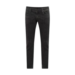 Jean gris medio en mezcla Algodón elastano, silueta slim fit y apliques personalizados.