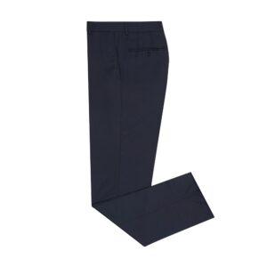 Pantalón azul oscuro jaspeado con corte clásico, silueta regular, en lana 100% Italiana de Reda.