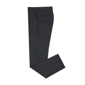 Pantalón gris oscuro jaspeado con corte clásico, silueta regular, en lana 100% Italiana de Reda.