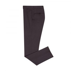 Pantalón vino tinto jaspeado con corte clásico, silueta Slim fit, en lana 100% Italiana de Reda.