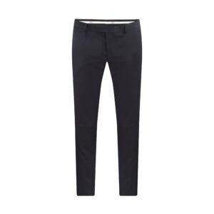 Pantalón azul oscuro, slim fit y lana 100% Italiana de Marzotto.