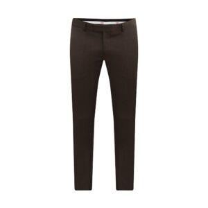 Pantalón café jaspeado, slim fit y lana 100% Italiana de Reda.