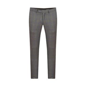 Pantalón elaborado con  Lana 100% Italiana de Reda en color gris a cuadros, silueta slim fit y bolsillos sesgados.