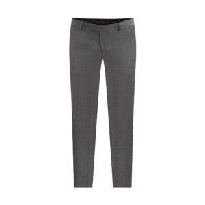 Pantalón gris jaspeado con corte clásico, regular fit y lana 100% Italiana de Reda.
