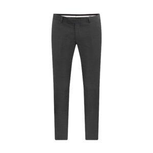 Pantalón gris oscuro jaspeado, slim fit y lana 100% Italiana de Reda.
