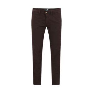 Pantalón vinotinto slim fit tipo chino. Confeccionado en Algodón 100% Español, tejido que se adapta al cuerpo brindando confort.