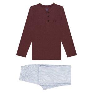 Pijama de dos piezas en 100% algodón.