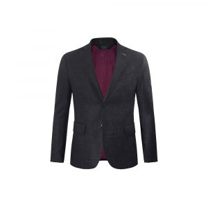 Saco informal gris jaspeado, bolsillos de tapa con silueta clásica y versátil. Confeccionado en Lana 100% Italiana de tacto suave y confortable.
