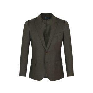 Saco verde jaspeado, dos botones y  bolsillos de tapa. Regular fit elaborado con Lana 100% Española, fabricante Lanitex.