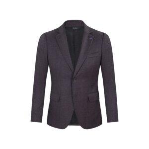 Saco vinotinto jaspeado, dos botones y bolsillos de tapa. Regular fit elaborado con lana 100% Italiana. Fabricante Reda.