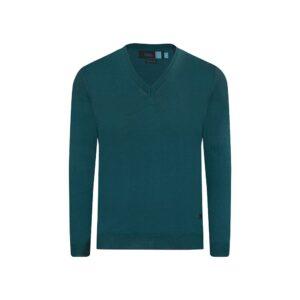 Suéter cerrado verde medio cuello v.