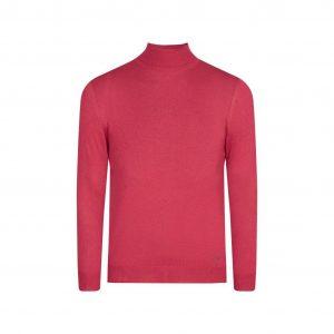 Suéter cereza cuello tortuga, tejido 100% algodón.