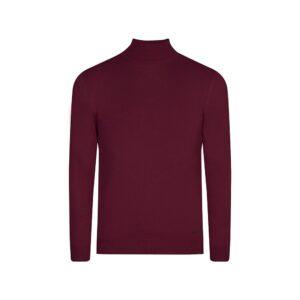 Suéter vino tinto cuello tortuga, tejido 100% algodón.